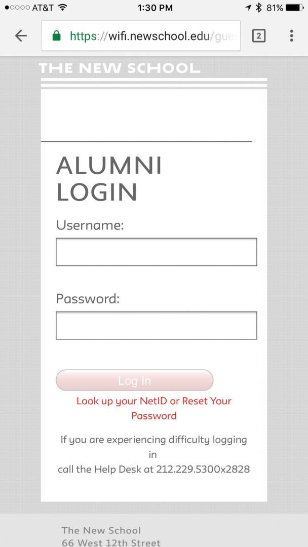 newschool-alumni wireless network