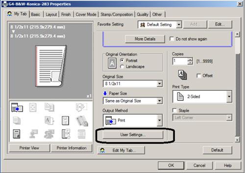 Windows User Settings