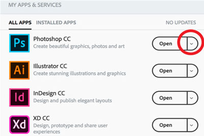 Managing Creative Cloud App Versions | IT Website