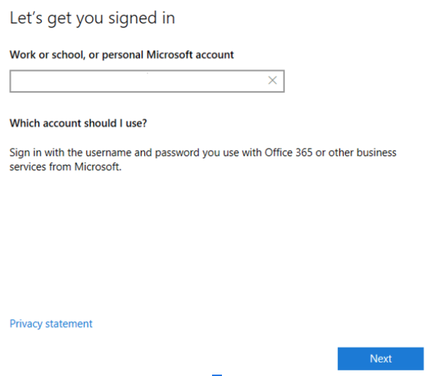 Microsoft Login for Remote Desktop Client