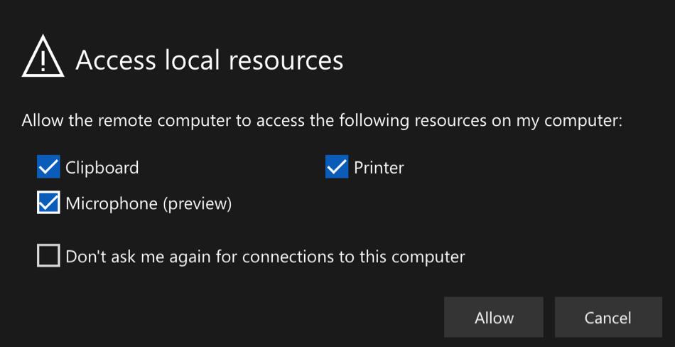 Cloud Desktop Local Resources